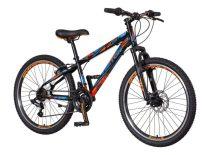 Visitor Hunter 24 gyerek kerékpár Fekete-Kék V-fékes