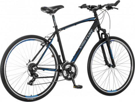 Visitor Terra Man férfi crosstrekking kerékpár Fekete-Kék