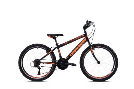 """Capriolo Rapide 240 24"""" gyerek kerékpár Fekete-Narancs 2021"""